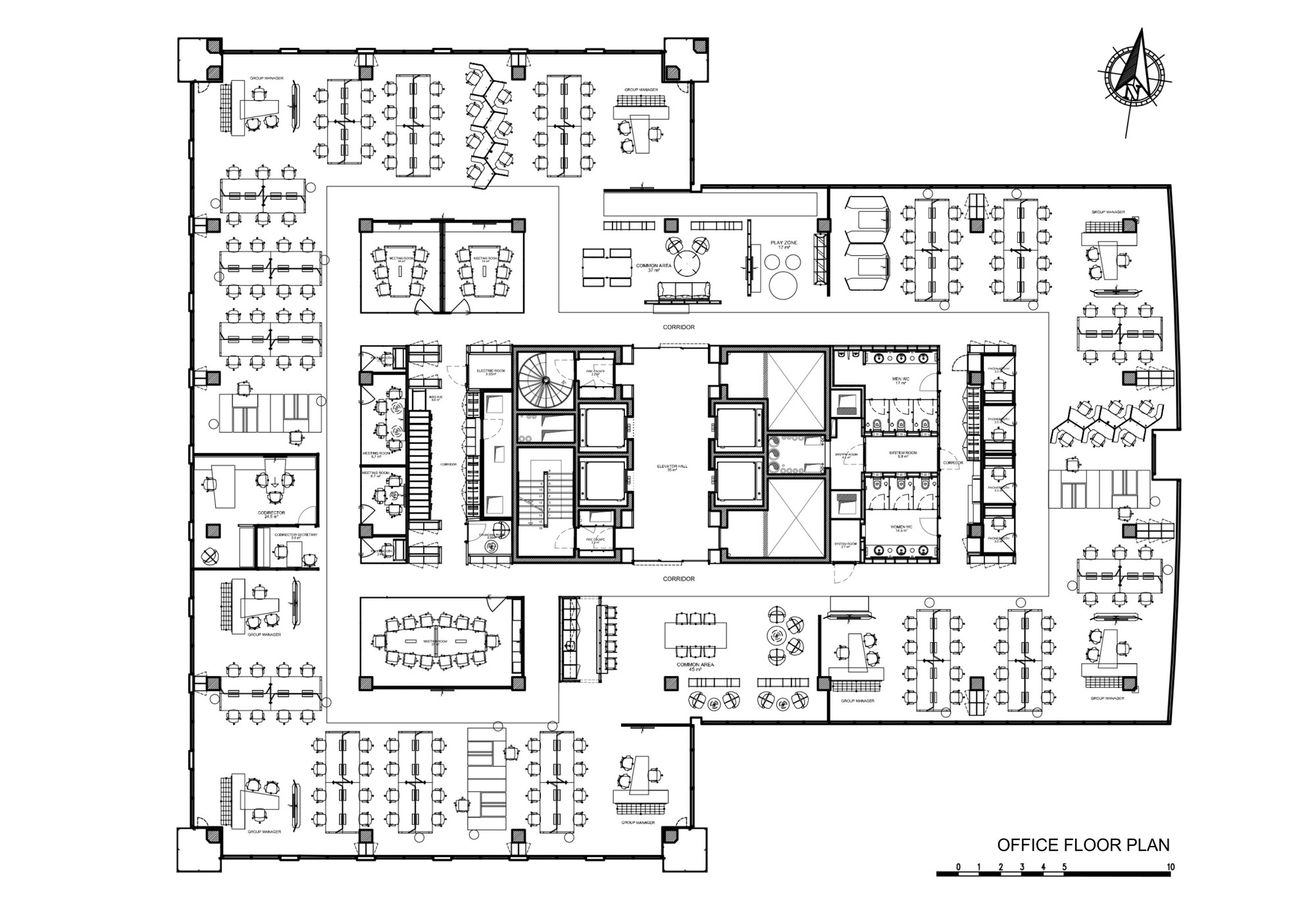 Gallery of ing bank turkey hq bakirkure architects 25 Office building floor plan layout