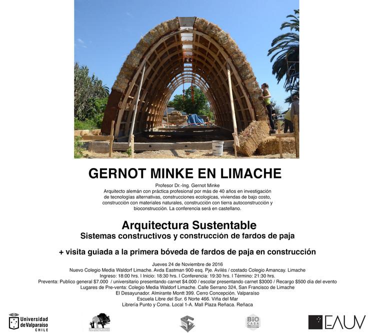 Conversatorio 'Arquitectura Sustentable: sistemas constructivos con fardos de paja' / Limache, Cortesía de Unknown
