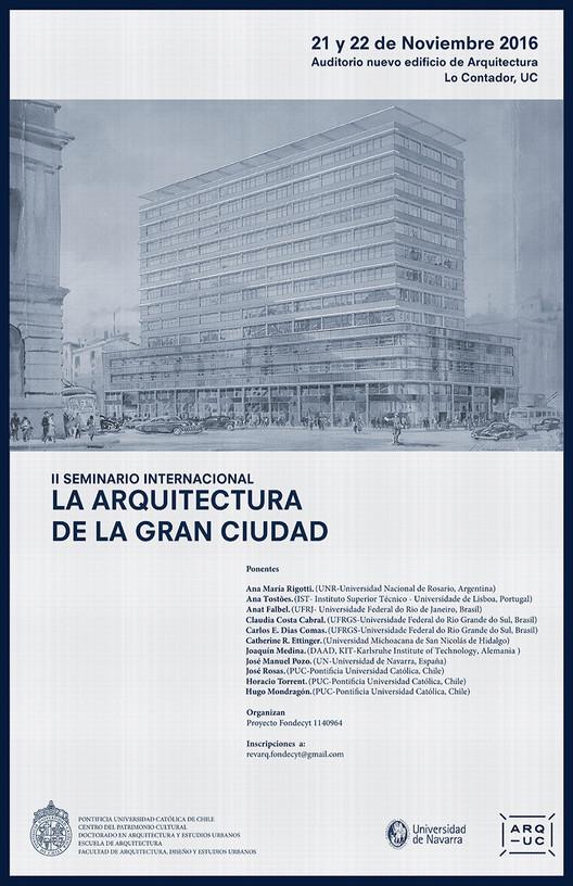 II Seminario Internacional La Arquitectura de la Gran Ciudad, Cortesía de Unknown
