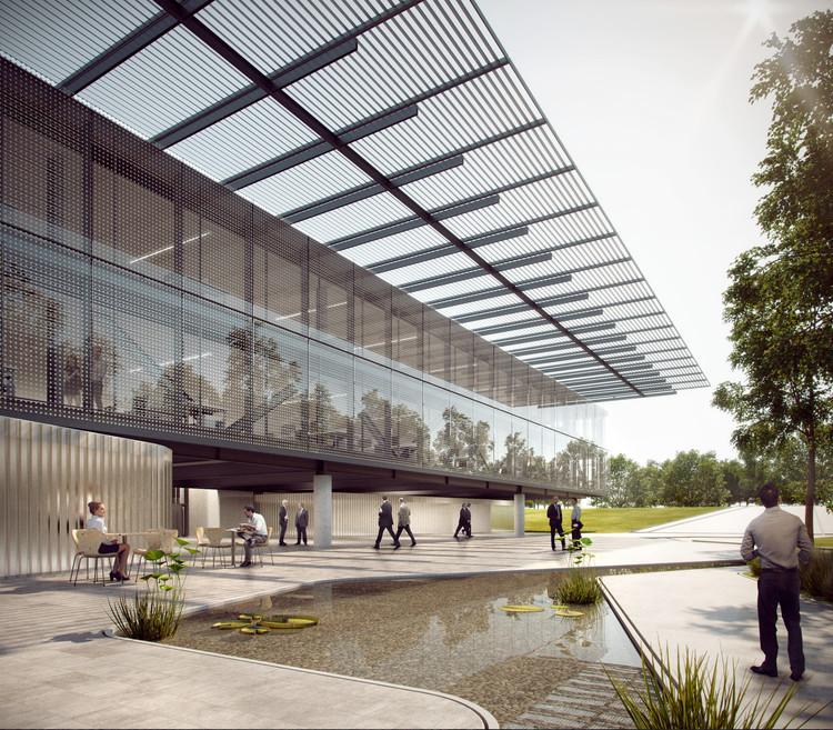 Primeiro lugar no concurso nacional para a nova sede do CAU/BR + IAB/DF, Cortesia de São Paulo Arquitetos e COA Associados