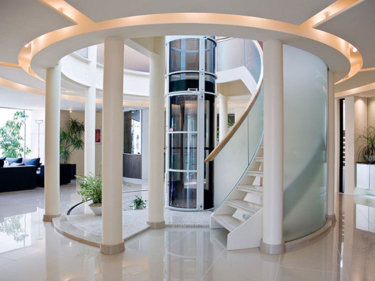 These Space-Saving Home Elevators are Vacuum Powered , Courtesy of Pneumatic Vacuum Elevators, LLC