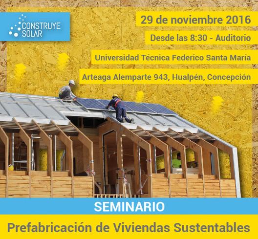 Charla Construye Solar: prefabricación en viviendas sustentables