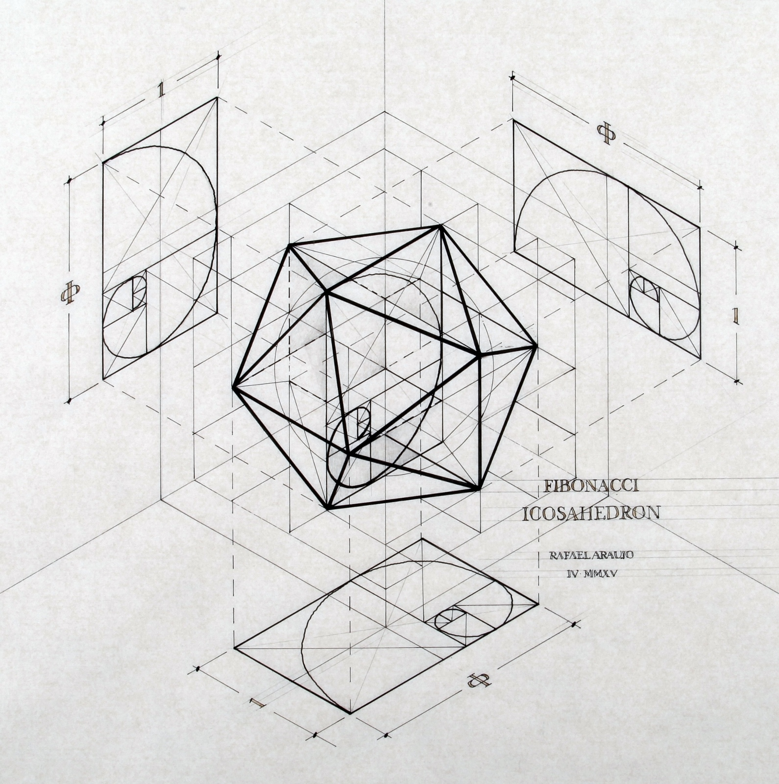 This Architect Fuses Art And Science By Hand Illustrating The Golden Ratio