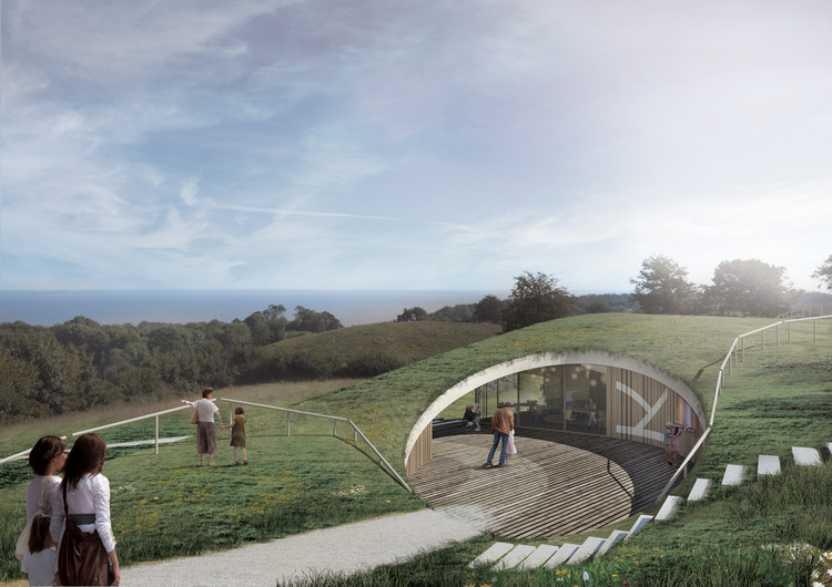 CEBRA to Design Green-Roofed, Underground Visitor Center in Southern Denmark, Courtesy of CEBRA Architects
