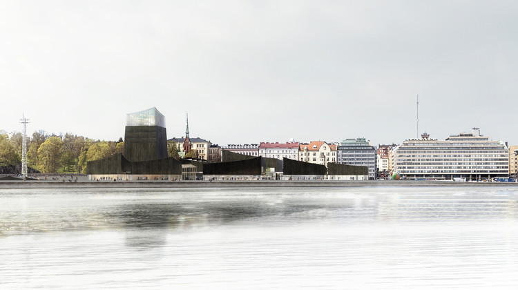 Finnish Architect Juhani Pallasmaa Refuses to Support Guggenheim Helsinki Project, Moreau Kusunoki's 'Art in the City' Proposal for Guggenheim Helsinki. Image © Moreau Kusunoki Architectes / Guggenheim