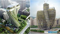 Vincent Callebaut Architectures' Double Helix Eco-Tower Takes Shape in Taiwan