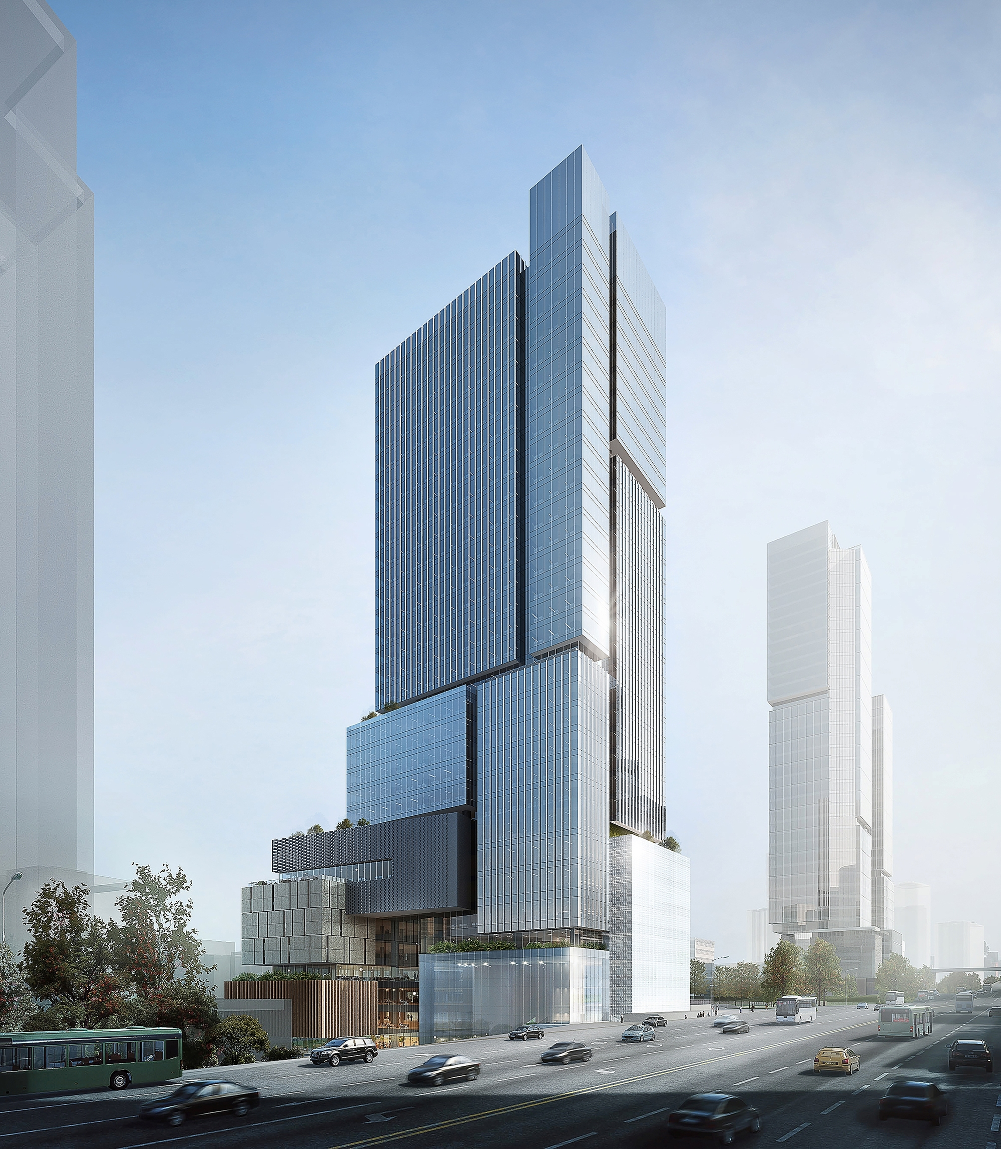 eid wins competition for stacked block mixed use development in chongqing archdaily. Black Bedroom Furniture Sets. Home Design Ideas