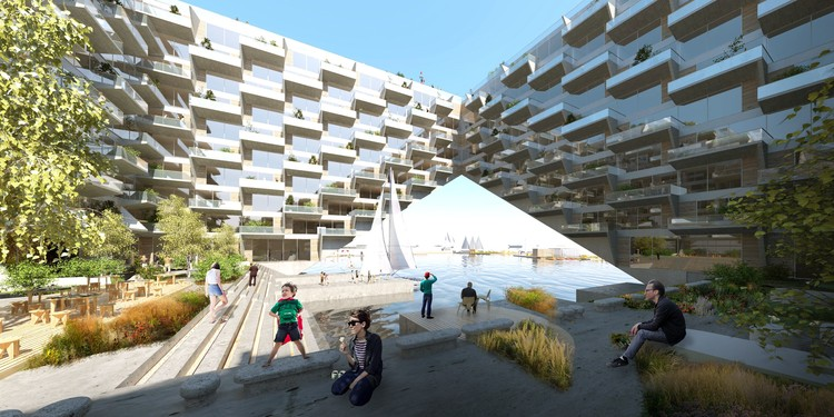 BIG and BARCODE Win Competition for the Sluishuis Housing Development in Amsterdam, © BIG / Barcode Architects