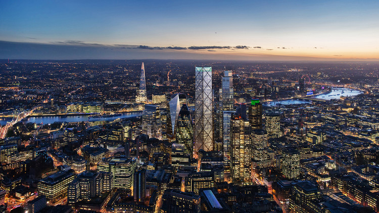 Eric Parry Architects' 72-Story Skyscraper Receives Approval from City of London, © DBOX for Eric Parry Architects