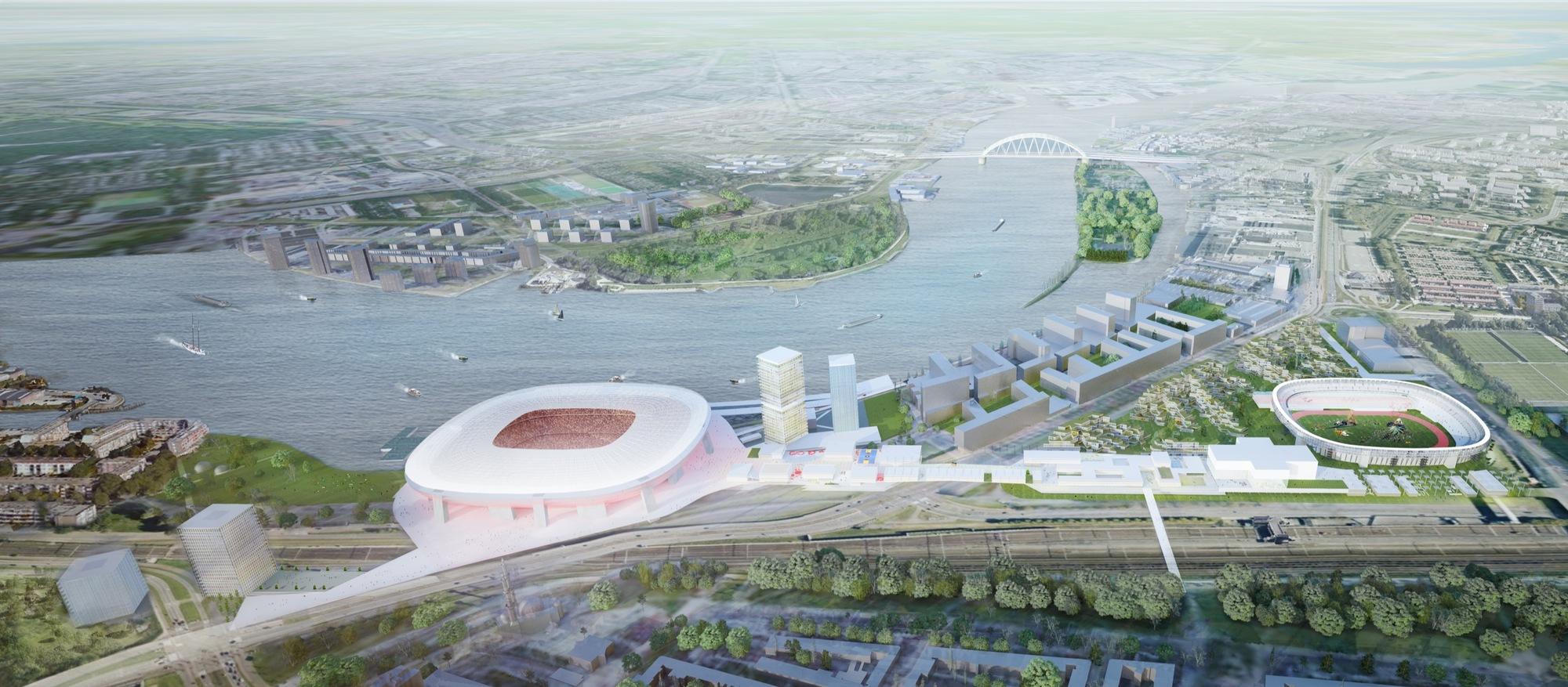 Gallery of OMA's Masterplan for Feyenoord City in Rotterdam ...