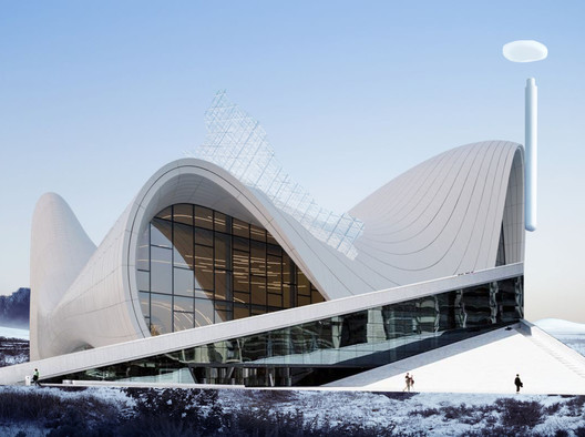 © Ariana Zilliacus. Original work using images by <a href='http://www.archdaily.com/448774/heydar-aliyev-center-zaha-hadid-architects'>Iwan Baan</a>, <a href='http://snohetta.com/project/42-norwegian-national-opera-and-ballet'>Jens Passoth</a>, <a href='http://www.archdaily.com/384289/serpentine-pavilion-sou-fujimoto'>Daniel Portilla</a> and <a href='http://www.archdaily.com/339893/bigs-waste-to-energy-plant-breaks-ground-breaks-schemas'>BIG</a>