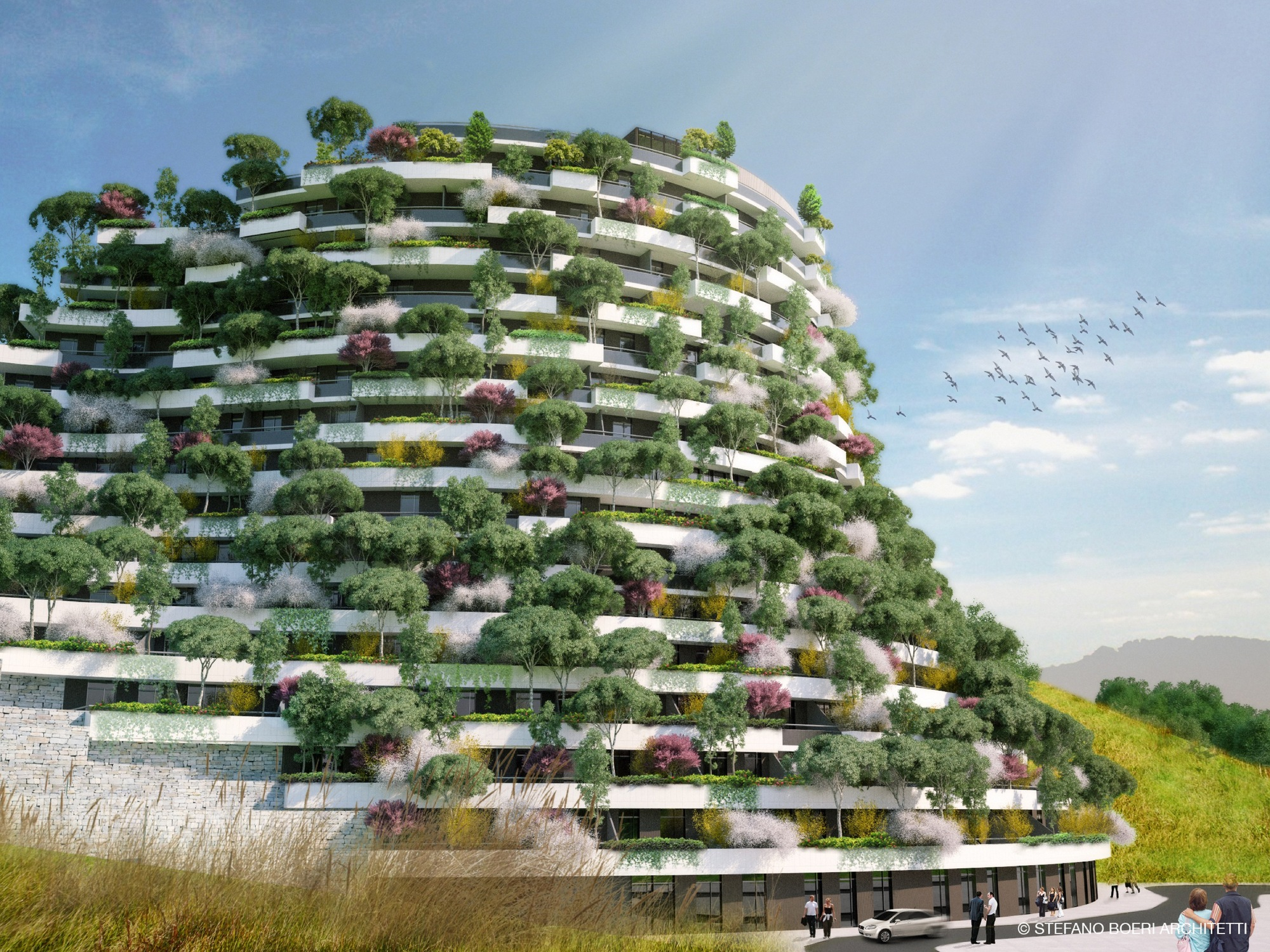 Hotel Designs stefano boeri architetti designs vertical forest hotel in remote