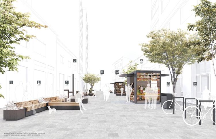 Primeiro lugar no Concurso Público Nacional de Ideias para Elementos de Mobiliário Urbano de São Paulo , Conjunto. Image Cortesia de Estúdio Módulo