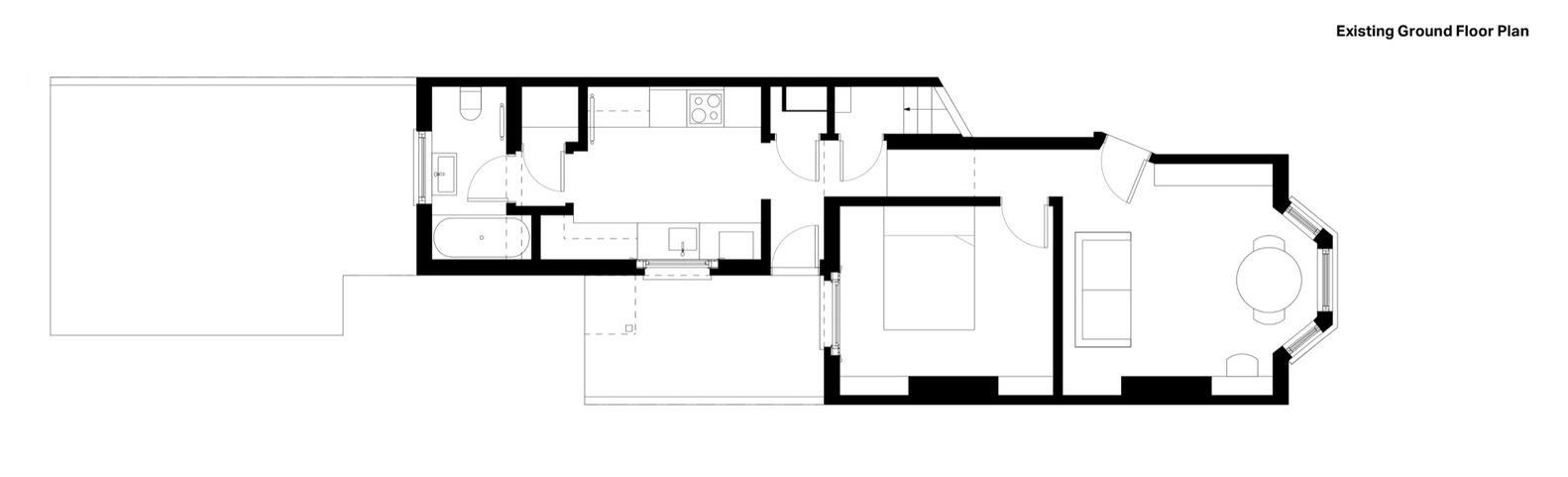 Sunken Bath Project,Floor Plan 01