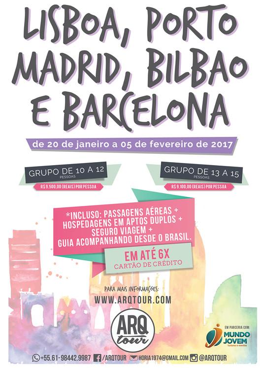 ARQtour - Portugal e Espanha 2017, ARQtour - Portugal e Espanha 2017