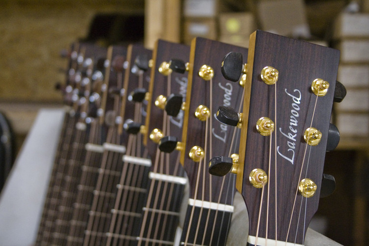 Instrument Building: an Ancient Craft With a Big Future, Lakewood produces circa 1300 guitars a year.. Image Courtesy of Lakewood Guitars