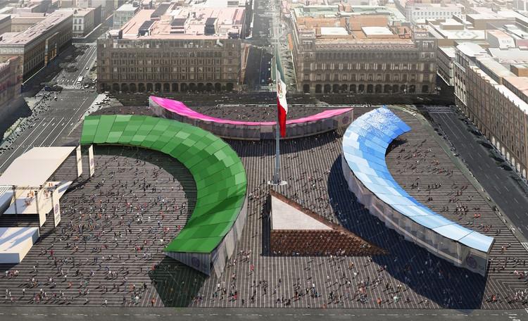Colectivo de Uno, ganador del Pabellón de la Feria de las Culturas Amigas 2017, Primer lugar: Colectivo del Uno. Image Cortesía de LIGA, Espacio de Arquitectura DF