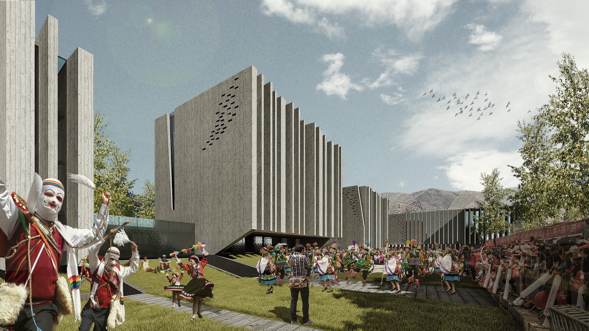 Tercer lugar centro cultural cusco oscar gonzalez moix archdaily m xico - Casa en sabadell centro ...