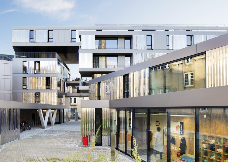 56 apartments in nantes phd architectes archdaily for Architecture nantes