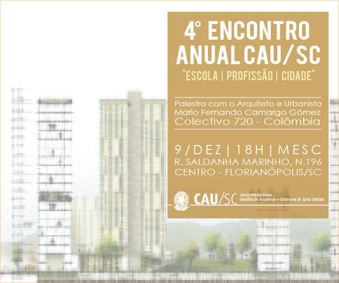 CAU/SC promove palestra com arquiteto colombiano Mario Camargo Gómez, do COLECTIVO 720, Divulgação