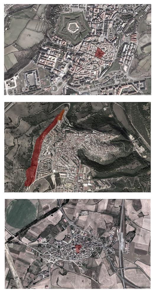 Convocatoria abierta para la Fase 2 del Concurso de Arquitectura Richard H. Driehaus, Áreas de intervención en los tres emplazamientos seleccionados