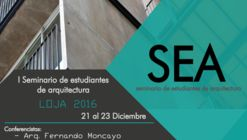1er Seminario de Estudiantes de Arquitectura - SEA