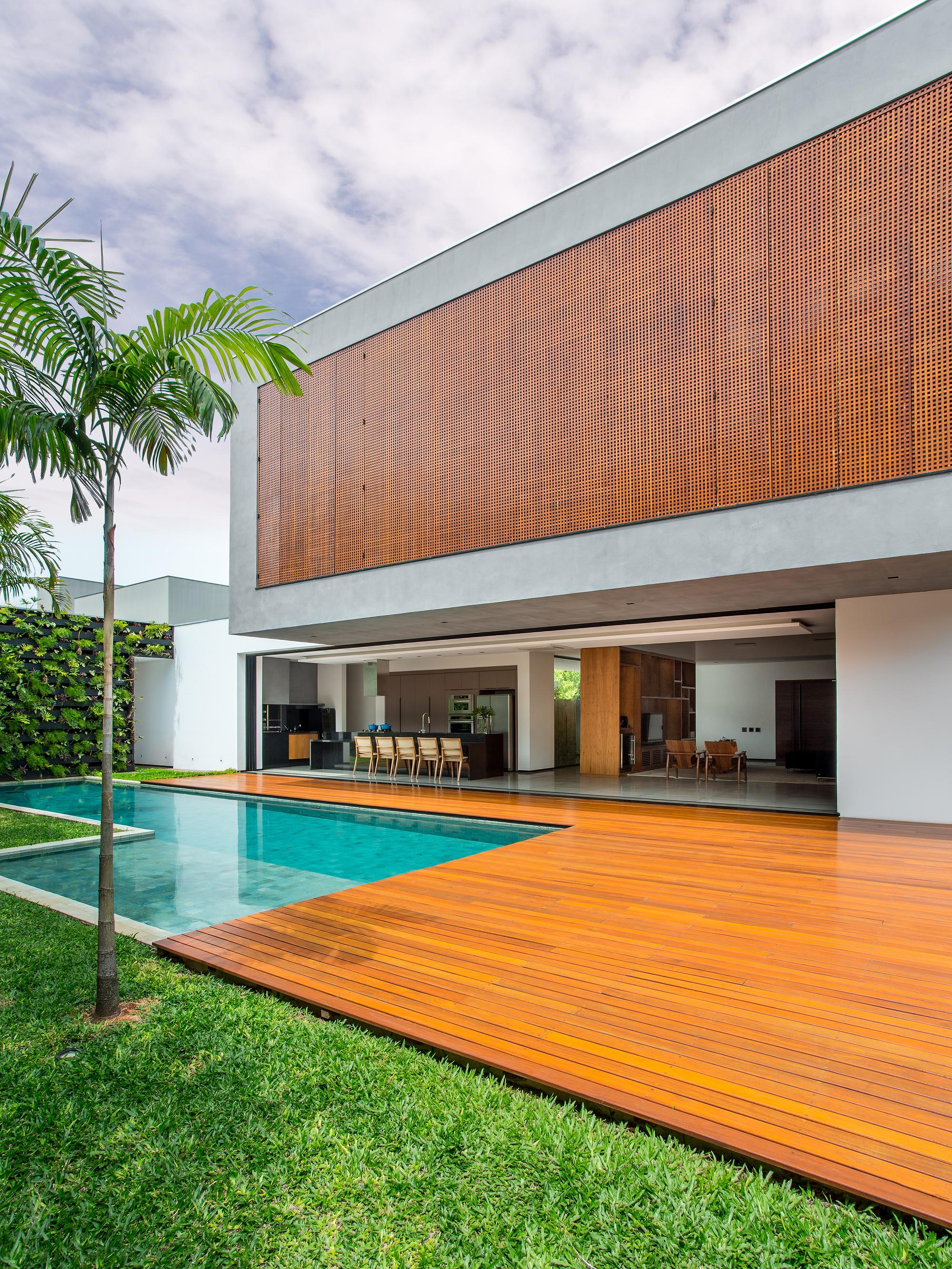 Galeria de resid ncia act cf arquitetura 7 for Ideas para piscinas casas