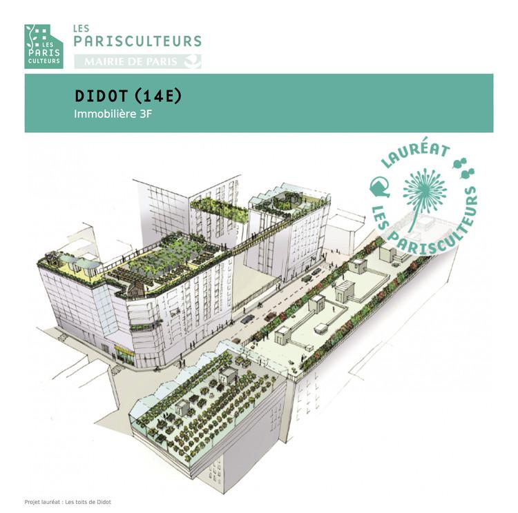 Paris anuncia 33 projetos para criar 100 hectares de coberturas e fachadas verdes , © Fonte: parisculteurs.paris (disponível na ficha técnica)