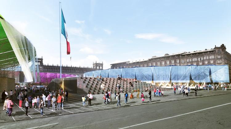 Revelan detalles del proyecto ganador 'Pabellón de la Feria de las Culturas Amigas 2017' en Ciudad de México, Proyecto ganador por Colectivo del Uno. Image Cortesía de LIGA, Espacio para Arquitectura DF