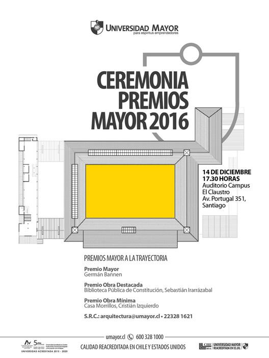 Ceremonia de Premios Mayor 2016 en Santiago, Planta claustro del 900