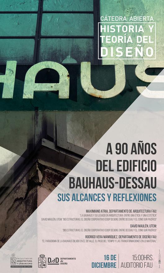 Cátedra abierta: A 90 años del edificio Bauhaus-Dessau. Alcances y reflexiones, DEX-FAU UChile