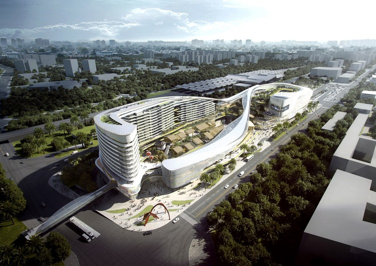 Aedas Wins Competition for Dragon/Phoenix-Inspired Transportation Hub in Sanya, China, Courtesy of Aedas