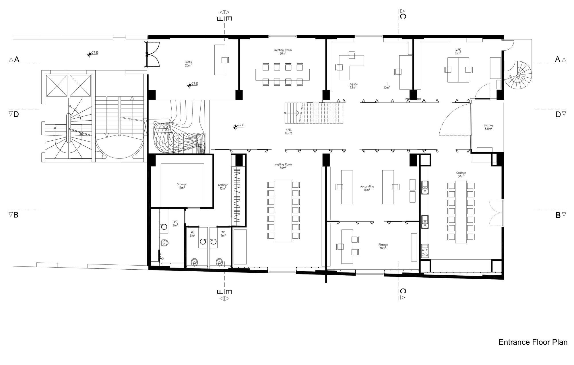 5850d858e58ece0202000133 Gad Park Gokhan Avcioglu Plus Gad Architecture Entrance Floor Plan on Metal Building Floor Plans