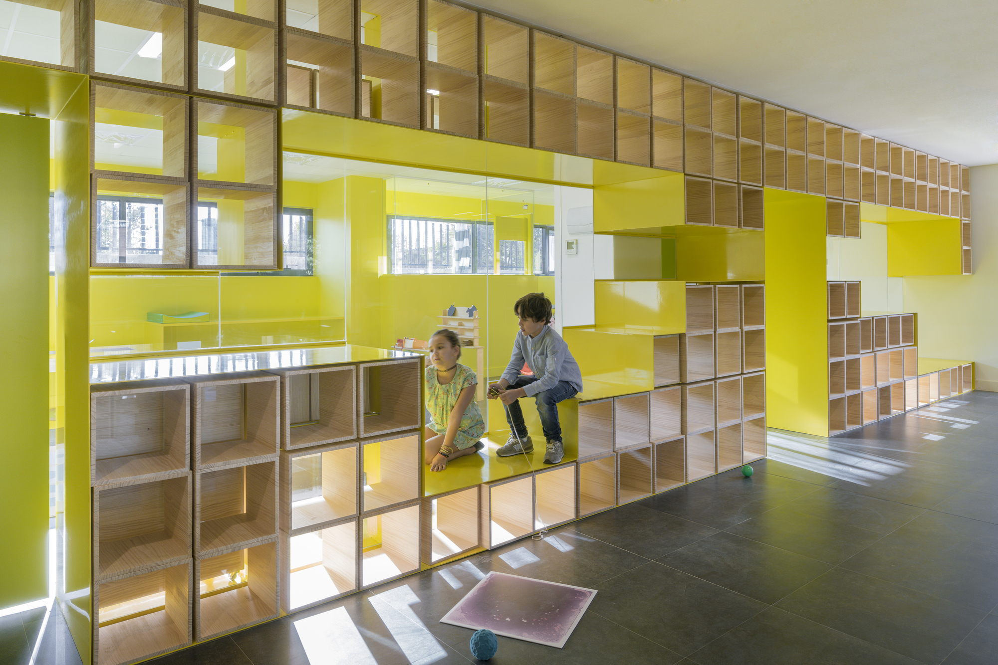 Gallery of english for fun flagship in madrid lorena del for Interior decorating school tampa