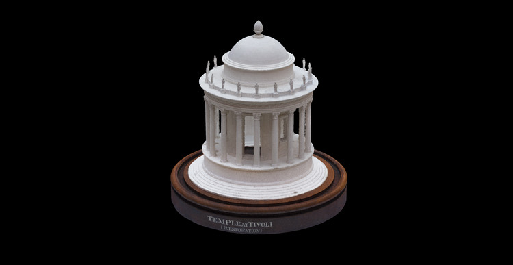 Experience the Sir John Soane's Museum, Virtually, Temple of Vesta in Plaster of Paris model by François Fouquet. Image © Sir John Soane's Museum
