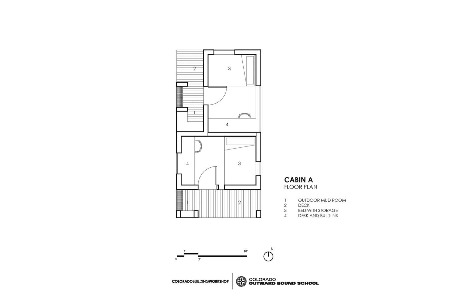 Gallery of COBS YearRound Micro Cabins Colorado Building Workshop – Micro Cabin Floor Plans