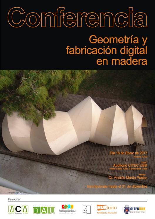 Conferencia: Geometría y fabricación digital en madera, Fotografía: FABLAB Sevilla