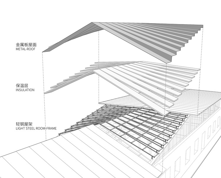 Art studio of xu hongquan office project archdaily construction diagram of roof ccuart Image collections