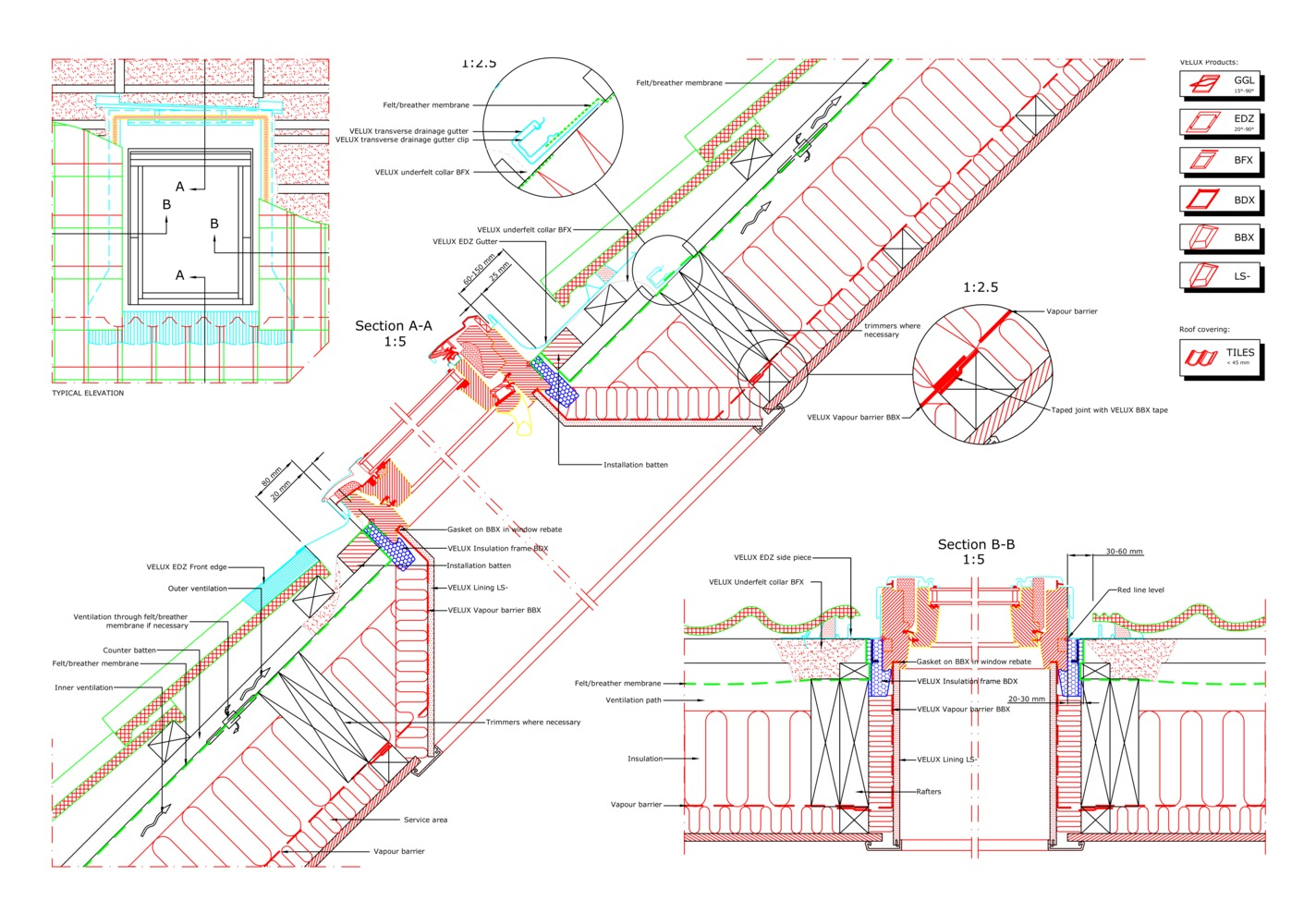 16 CAD Files of Roof Windows and Light Tubes Available for Your Next  Project,GGL