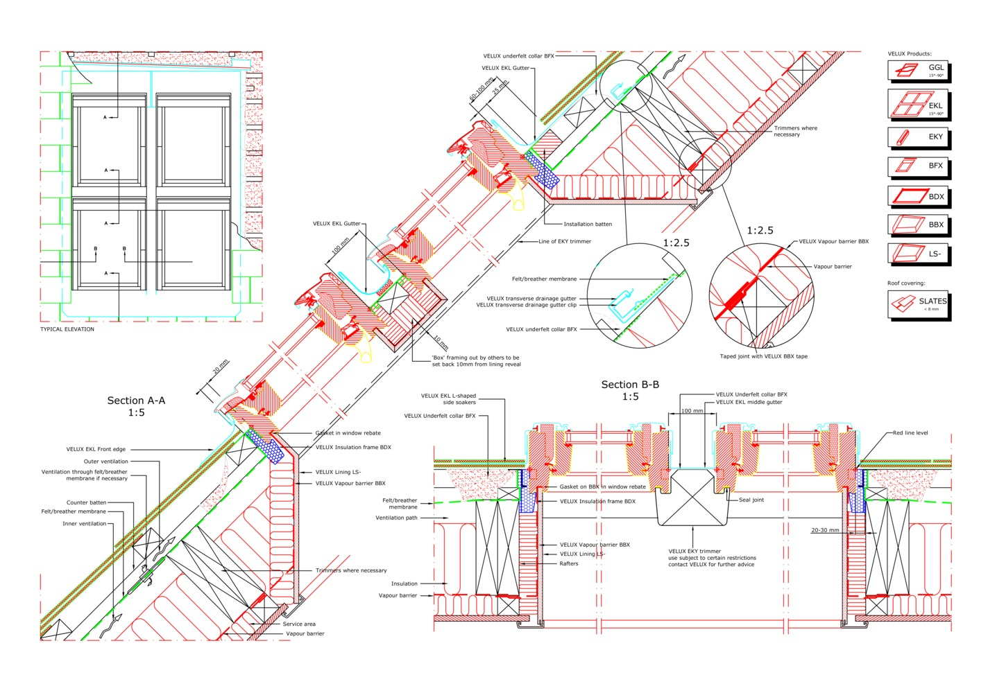 Gallery Of 16 Cad Files Roof Windows And Light Tubes Available Velux Wiring Diagram For Your Next Projectggl