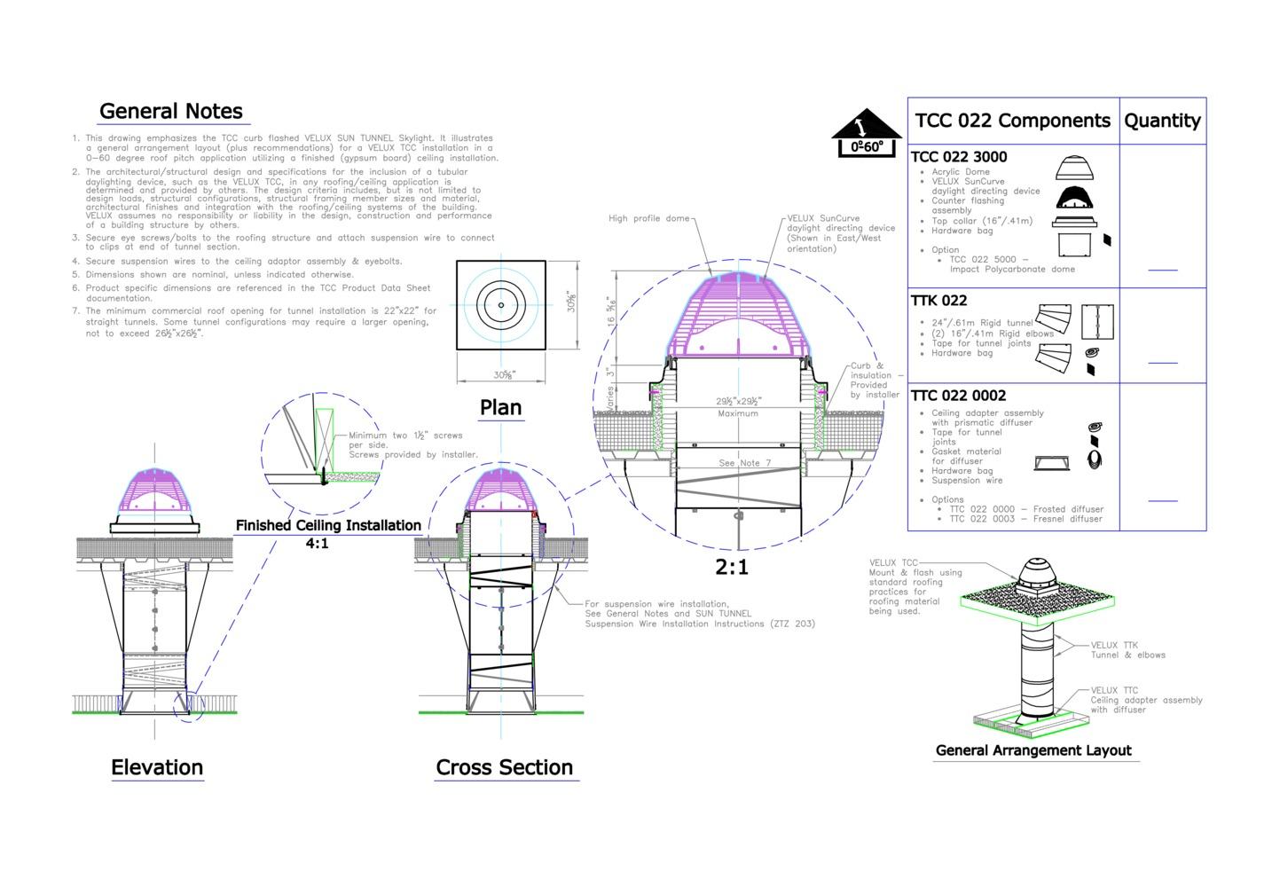 Famosos Galeria de 16 detalhes de iluminação zenital para download em .DWG - 1 DK62