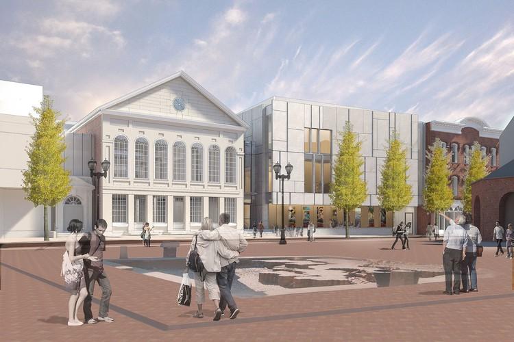 Ennead Architects Breaks Ground on Expansion of the United States' Oldest Museum, Street Plaza View. Image Courtesy of Ennead Architects