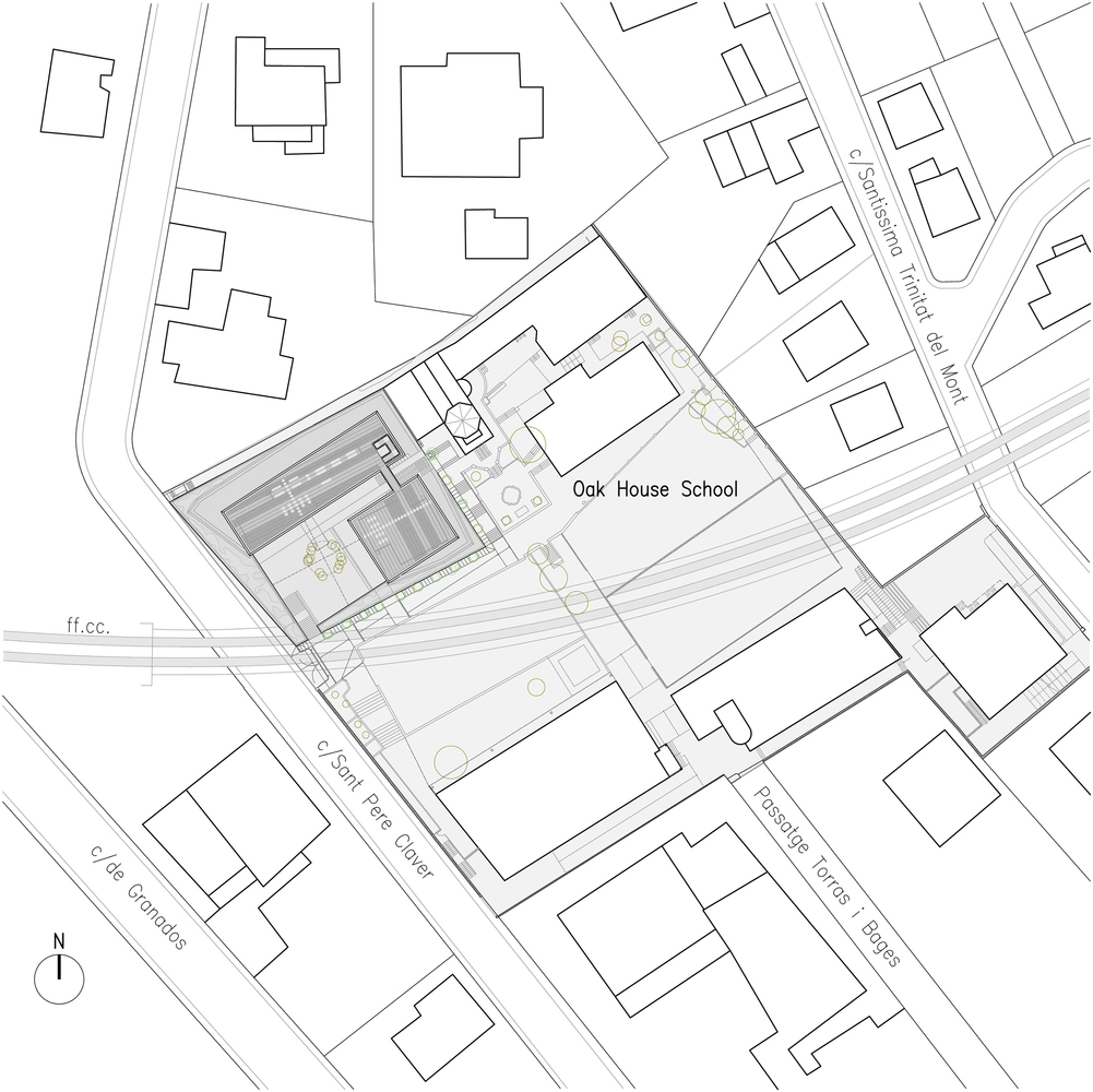 Oak house high school buildingsite plan