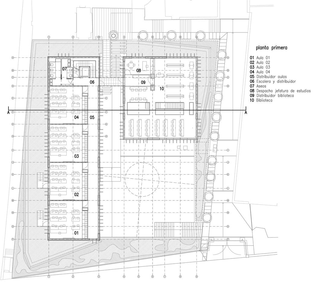 Oak house high school buildingfirst floor plan