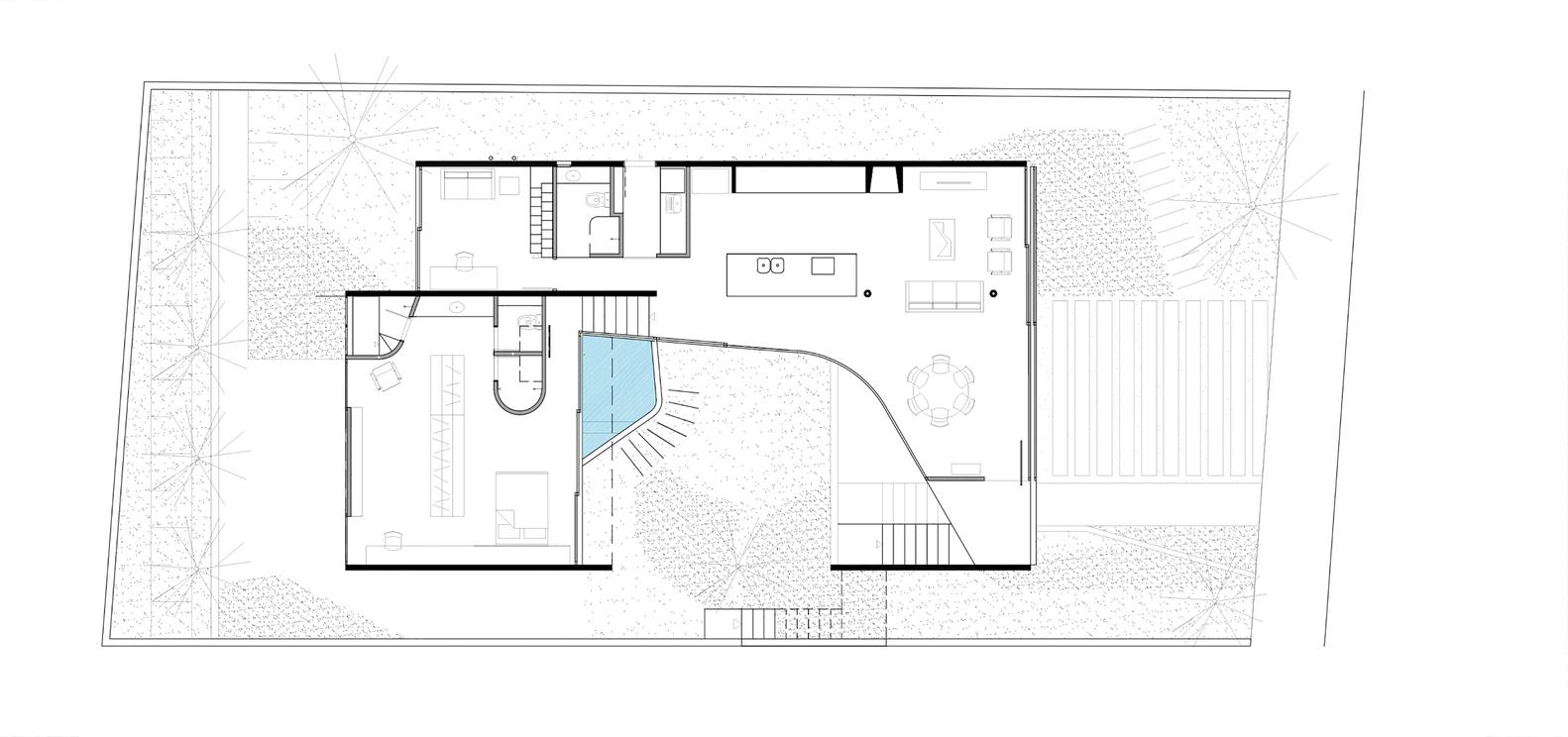 Gallery of lens house obra arquitetos 22 lens housefirst floor plan ccuart Gallery