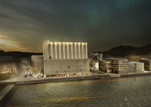 Winning proposal by MESTRES WÅGE ARQUITECTES and MX_SI ARCHITECTURAL STUDIO. Image Courtesy of Kunstsilo