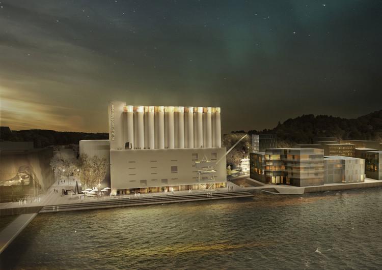 Se anuncian los ganadores para el concurso noruego que busca convertir un silo en un museo de arte, Propuesta ganadora por MESTRES WÅGE ARQUITECTES y MX_SI ARCHITECTURAL STUDIO. Imagen cortesía de Kunstsilo
