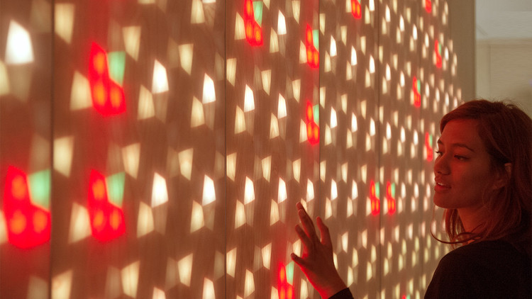 Translucent Wood and Light Installation Brightens Children's Hospital in Australia, Courtesy of ENESS