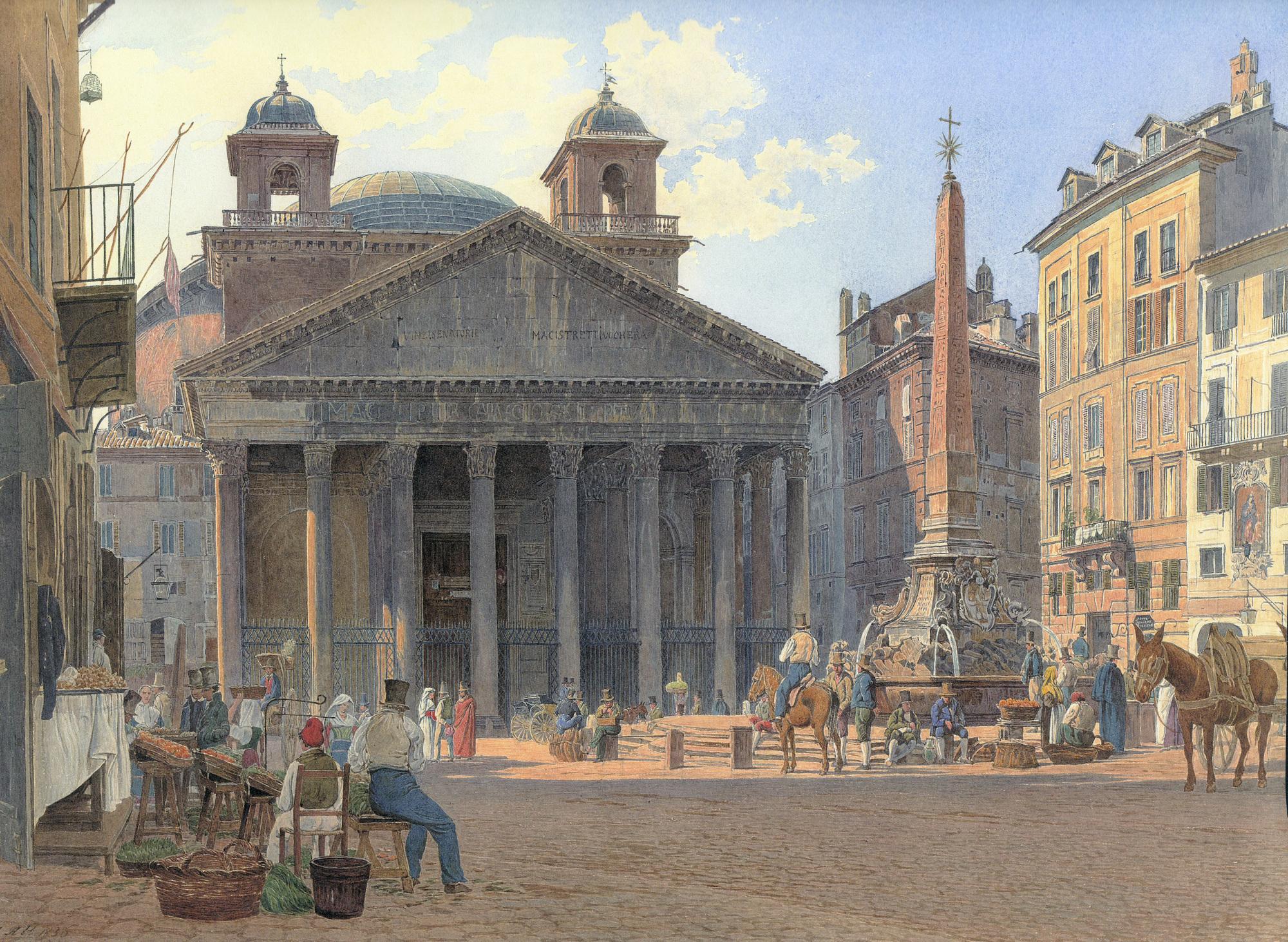 Gallery of ad classics roman pantheon emperor hadrian 8 for Esterno pantheon
