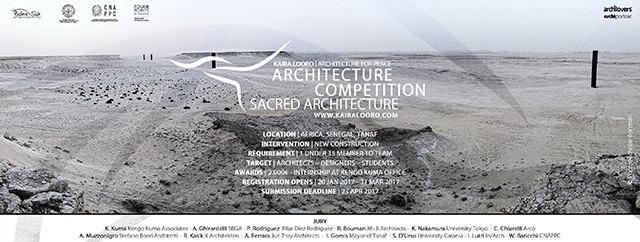 Kaira Looro Competition for Sacred Architecture, A tribute to the sacredness in a remote place of the earth. A national symbol for the spirituality of Senegal.